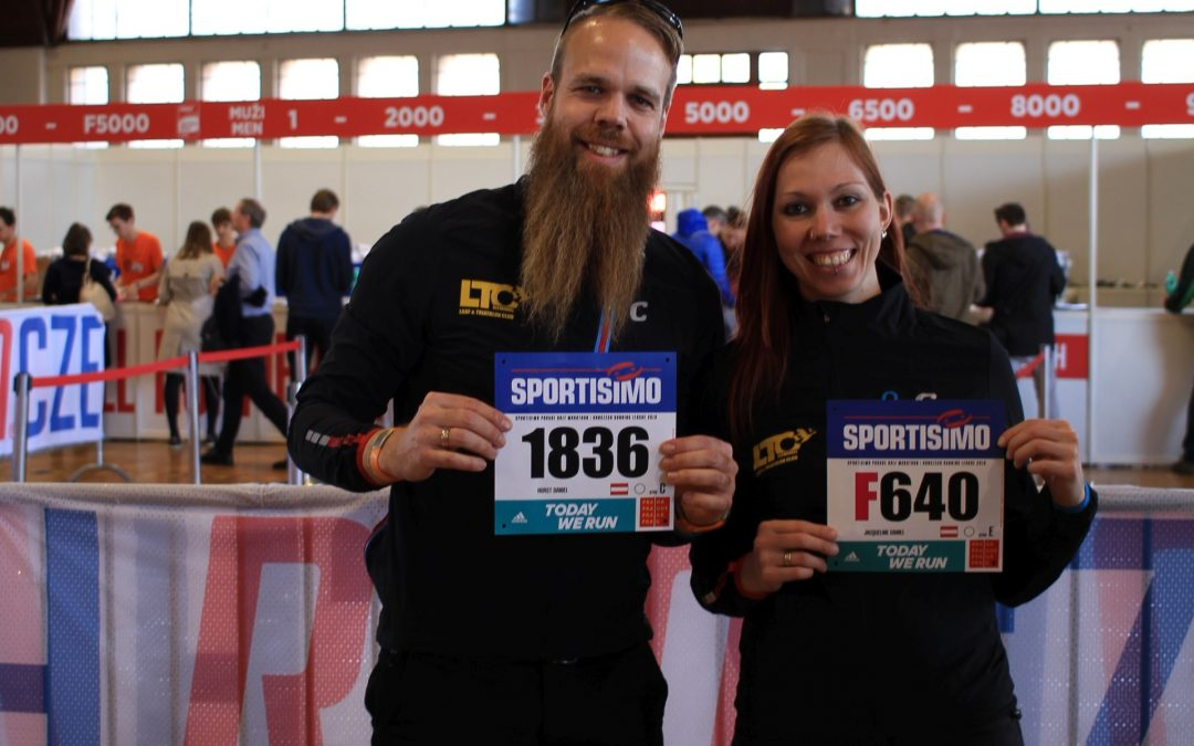 Jacky & Horst beim Prager Halbmarathon