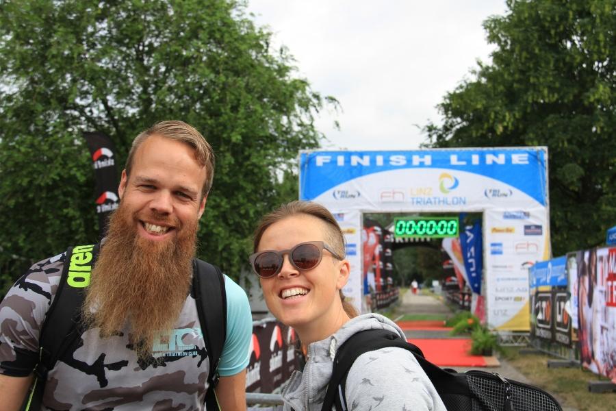 Kathy und Horst beim Linz Triathlon