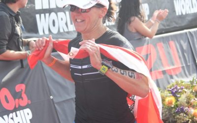 Renate bei der Ironman 70.3 WM in Port Elizabeth