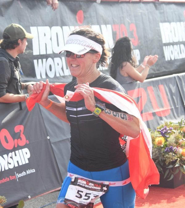 Renate bei der Ironman 70.3 WM in Port Elizabeth