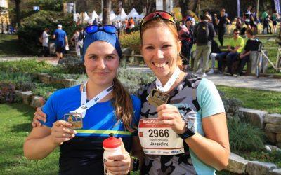 Michelle und Jacky liefen durch Graz