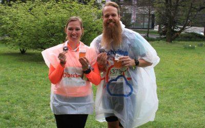Familie Daniel beim Linz Halbmarathon