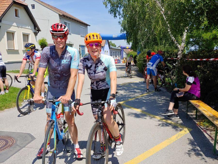 Elsa radlet beim Leithaberg Radmarathon auf's Stockerl